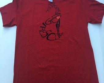 LARGE - Antique Cherry Red Rescue T-shirt