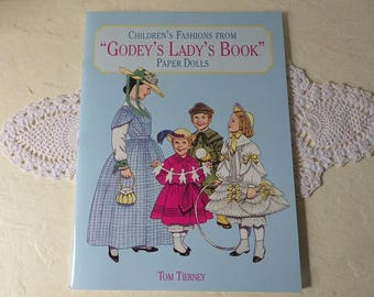 Paper Doll Booklet: Children's Fashions From Godey's Lady's Book, Unused, Like New, Tom Tierney, 1997