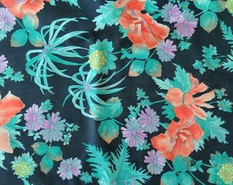 VINTAGE 1970's Hawaiian Print Fabric - available