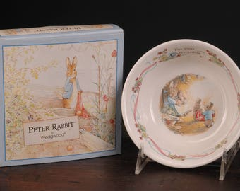 Wedgwood Peter Rabbit Christening Cereal / Coupe Bowl in Original Box