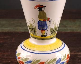 Quimper Vase, HB Henriot, France