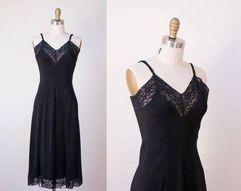 1940s Black Slip / 40s Rayon Slip
