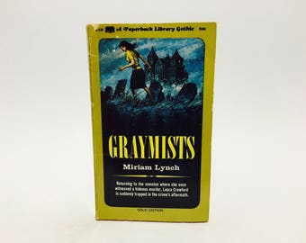 Vintage Gothic Romance Book Graymists by Miriam Lynch 1967 Paperback