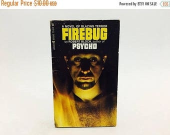 SUMMER BLOWOUT Vintage Horror Book Firebug by Robert Bloch 1967 Edition Paperback