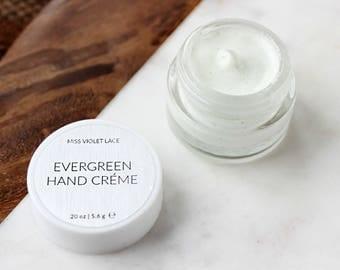 Evergreen Hand Lotion SAMPLE | Woodland Hand Cream | 100% natural + vegan manicure lotion