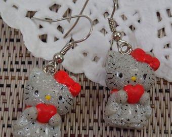 Cute Little Assorted Acrylic Kimono Love Hello Kitty Earring