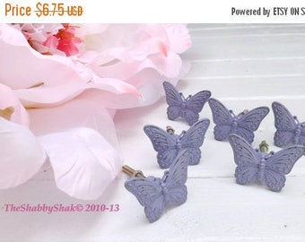 ON SALE Butterfly Knob / Dresser Knob/ Drawer Pull / Shabby Chic Decor / Nursery Decor / Girls Room Decor