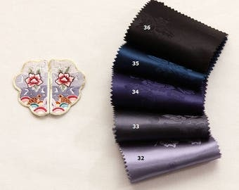 Korean Traditional Clothes  Hanbok  Peony Pattern Thin Satin Fabric By the yard (width 21.6 inches) 66743