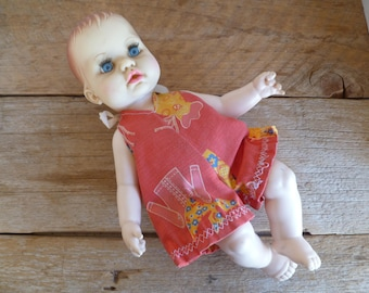 "Vintage Ideal 12""  Blue Eyes Collectable Doll  1971   Drinks and Wets"