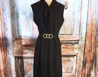Vintage Full Length Black Dress