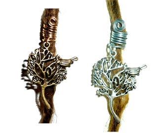 Tree of life dread bead dreadlock woodland, sister locks jewelry