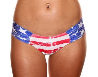Low Rise USA Booty Shorts