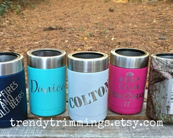 Ozark Trail™ Can Cooler- Laser Engraved/Etched Powder Coated Stainless Steel- monogram, name, logo, custom cup- like YETI, RTIC