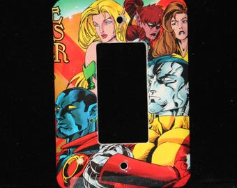 Excalibur Xmen Marvel Colossus Comic Book Switch Plate Outlet Wallplate Light Cover Toggle Decora Night Crawler Enchantress Kitty Pryde