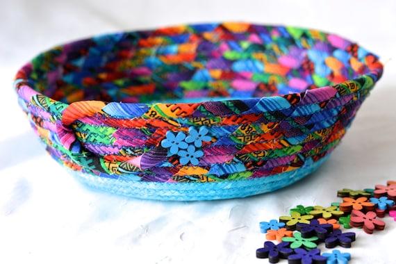 Rainbow Ring Bowl, Fun Basket, Handmade Candy Dish, Gift Basket, Desk Home Office Decoration, Halloween Candy Dish Bowl, Change Basket