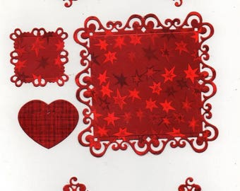 219 - Set of ornaments for your cards or scrapbooking