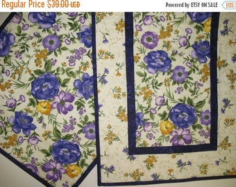Sale Christmas in July Floral Table Runner, Spring, quilted table runner, handmade,  Summer, table linens, fabric from Timeless Treasures So