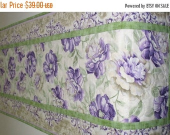 Sale Christmas in July Spring Table Runner, Floral, Easter, quilted, Summer, table linens, fabric from Timeless Treasures