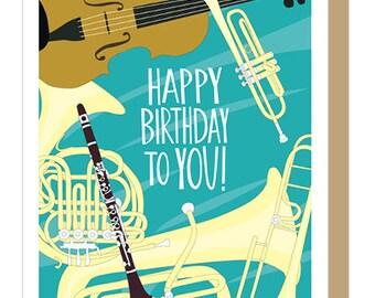 MUSICAL INSTRUMENTS - Birthday Card