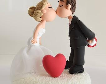 Lovely couple custom wedding cake topper