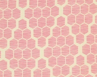 SALE 30% Off - Joel Dewberry - BUNGALOW Hive in Pink - Free Spirit Fabric - PWJD073 - By the Yard