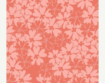 SALE 10% Off - Sequins in Coral (BE-7109) - Bespoken by Patricia Bravo for Art Gallery Fabrics - By the Yard