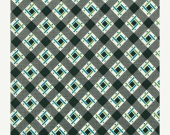 SALE 30% OFF - FLORENCE Lincoln Log in Malachite Pwds055 - Denyse Schmidt - Free Spirit Fabric - By the Yard