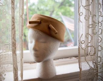 1960s Balenciaga Golden Pillbox Hat