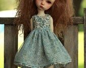 Cotton Lawn and dotted swiss Dress for IMda3.0 BJD
