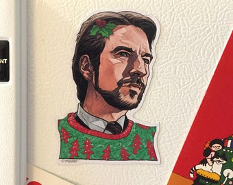 HANS GRUBER Die Hard Christmas Fridge MAGNET!