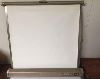 Vintage Projection Screen Portable by Dalite Tabletop Desktop