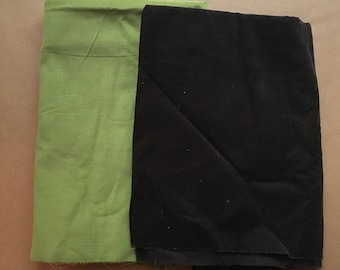 2 Pieces Corduroy, Green and Brown