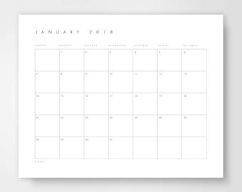 blank printable calendar full page