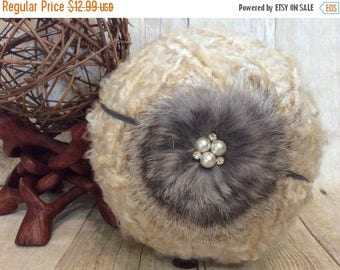 10% SALE Baby headband, newborn headband, adult headband, child headban, photo prop, fur flower, holiday, Winter, christmas FUR BOW headband