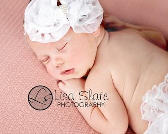 12% off Baby headband, newborn headband, adult headband, child headband and photography prop The single  sprinkled- Ruffle Bow headband