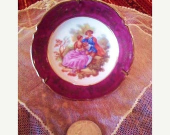 HURRY ON SALE Vintage Courting Couple Limoges miniature plate