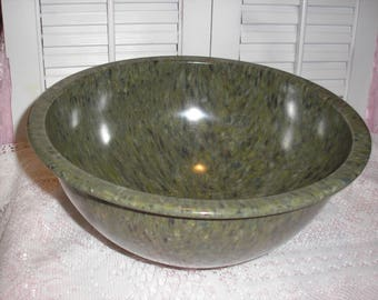 """Texas  Ware 11.5"""" mixing Bowl Confette speckle spatter 3125 Green"""