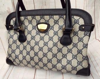 Vintage Gucci bag - 70s Gucci Handbag - Gucci Bag - Designer Vintage Bag - Designer Leather Bag - Vintage Leather Bag