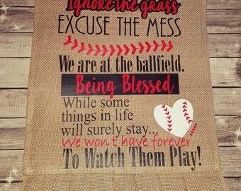 Baseball Family Garden Flag