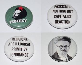 Leon Trotsky Badge Set 25mm / 1 inch Russia, CCCP, Communist