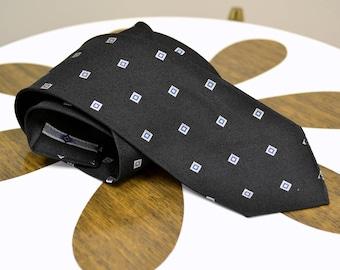 1950s Argence Black Silk Necktie