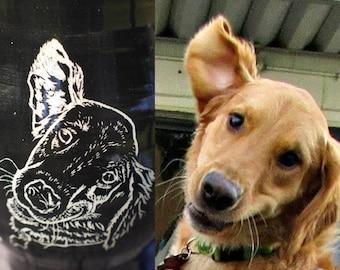 Pet Portrait Mug, Custom Coffee mug, Personalized Mug, Personalized Pet Mug, Pet Memorial, Christmas gifts, birthday gifts, Pet portrait