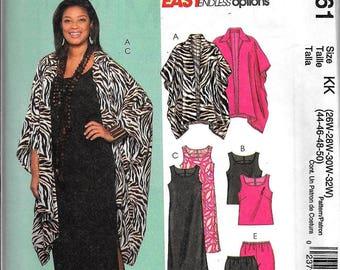 McCall's M5061 Women's Jacket,Top,Dress,Skirt,Pants Sewing Pattern 5061 UNCUT Plus Size 26W, 28W, 30W, 32W