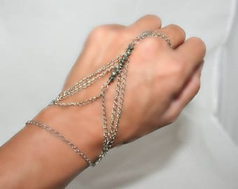 Ring bracelet with freshwater pearls (m4a)