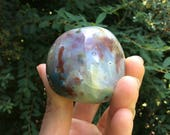 MINED OUT Rainbow Ocean Jasper Orbicular Jasper Worry Stone Pocket Stone Gallette, Dolphin Stone //Happiness, Contentment, Joy, Ease, Travel