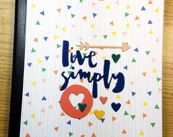 Live Simply Composition Book