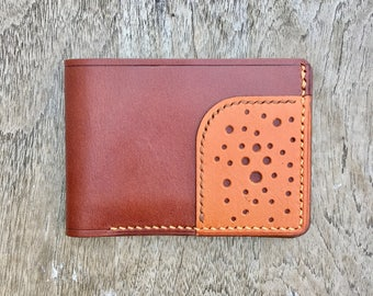 Tri Wallet - Two tone #1 - slim wallet - bifold - mens leather wallet - leather goods - made in usa - handmade leather - leather wallets men