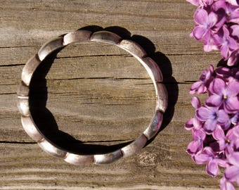 Sterling Silver Braided Bangle Bracelet