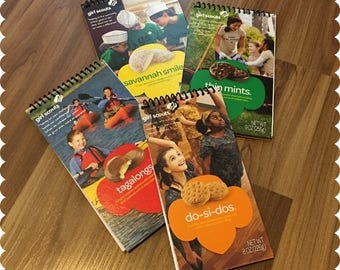 Girl Scout Cookies Notebook, Savannah Smiles, Do-Si-Dos, Tagalongs, Thin Mints, Recycled Spiral Bound Notebooks, Cookies, Jotter