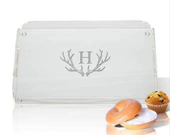 Personalized Antler Tray - Deer Antler Serving Tray - Acrylic Antler Serving ware - Hostess Gift - Wedding Gift - Cook Gift